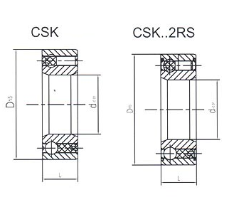One-way Clutch CSK,CSK..2RS Bearing