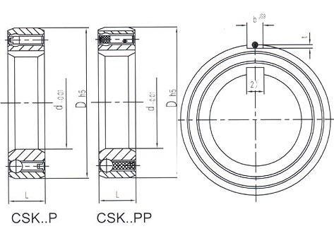 One-way Clutch CSK..P,CSK..PP Bearing